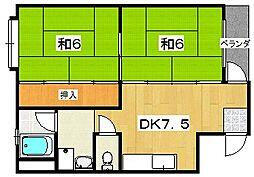 香楽園マンション[2階]の間取り