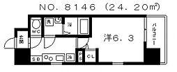 エス・キュート上本町イースト[5階]の間取り