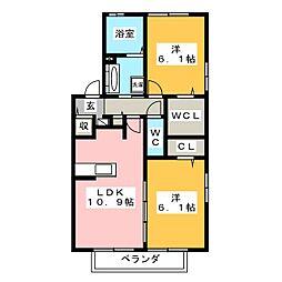クレ・ノワール[2階]の間取り