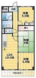 メゾンエトワール[3階]の間取り