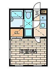 神奈川県川崎市麻生区金程1丁目の賃貸アパートの間取り