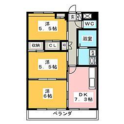 Grand Cha`teau III[3階]の間取り