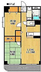 レジデンス塚田[2階]の間取り