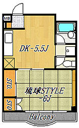キャピタルコート11[7階]の間取り