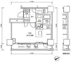 パークキューブ愛宕山タワー[9階]の間取り