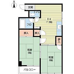 菊川マンション[8階]の間取り