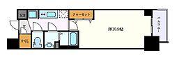 名古屋市営鶴舞線 丸の内駅 徒歩5分の賃貸マンション 10階1Kの間取り