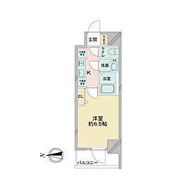アステリ鶴舞ディオ 8階1Kの間取り