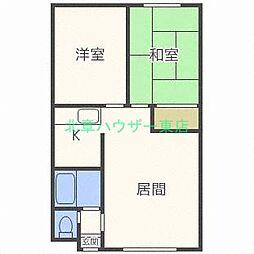 北海道札幌市東区北二十三条東20丁目の賃貸マンションの間取り