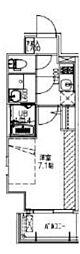 JR大阪環状線 福島駅 徒歩14分の賃貸マンション 8階1Kの間取り