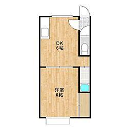 カレッジハウス66[1階]の間取り