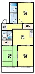 プリンセスミユキ[2階]の間取り