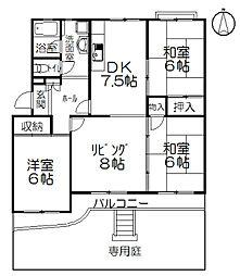 神奈川県茅ヶ崎市松が丘2丁目の賃貸マンションの間取り