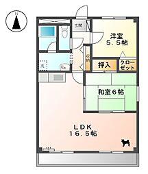 LISA[3階]の間取り