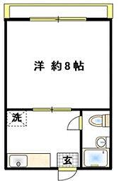 神奈川県厚木市愛名の賃貸マンションの間取り