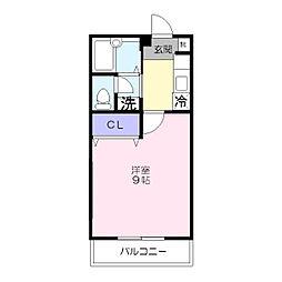 神奈川県横浜市港南区上大岡西2丁目の賃貸アパートの間取り