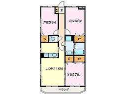 ソレイユ 8[3階]の間取り