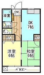 チェリーハウス[1-D号室]の間取り
