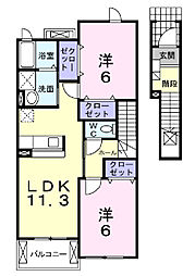 Schone(シェーネ)−UII[2階]の間取り