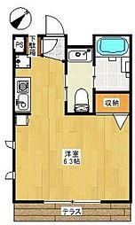 アンベリール戸塚(アンベリールトツカ)[1階]の間取り