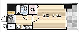 エスリード梅田西[6階]の間取り