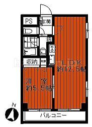 パークサイド北馬込[2階]の間取り