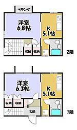 京都市営烏丸線 鞍馬口駅 徒歩6分 1Kの間取り