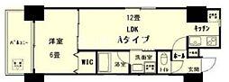 富田町二丁目マンション(仮称) 2階1LDKの間取り