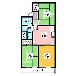 タウンKOSE 1棟[1階]の間取り