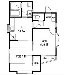 アメニティ新松戸[2階]の間取り