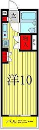 クレールII[510号室]の間取り