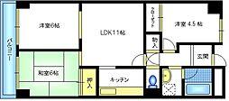 西宿ファミリーハイツ[2階]の間取り