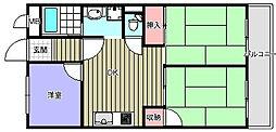 ハイツ木田[1階]の間取り