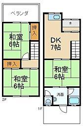 [テラスハウス] 大阪府寝屋川市音羽町 の賃貸【/】の間取り