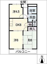 サンライズ御宿[2階]の間取り