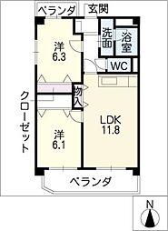 コートレージュI[1階]の間取り