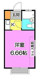 ヒューチャーハイム氷川台[2階]の間取り