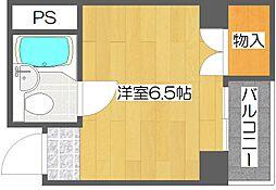 ロイヤル西住之江[4階]の間取り