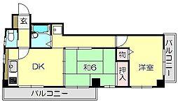 東京都目黒区下目黒4丁目の賃貸マンションの間取り