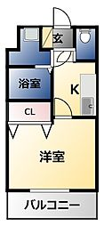 LAND GALAXY 8階1Kの間取り