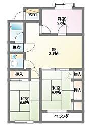サンローヤル東山No.3[2階]の間取り
