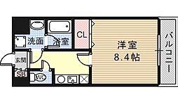 ゼニスレジデンス東大阪[201号室]の間取り