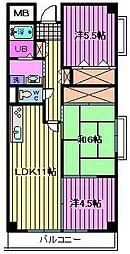 プリムヴェール[9階]の間取り