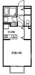 コーラルコート[105号室号室]の間取り