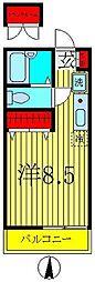 クレードル亀有II[3階]の間取り