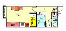 レオパレスレインボーランド[2階]の間取り
