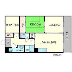 新大阪ファミール東館[3階]の間取り