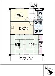 ファミール八幡[3階]の間取り