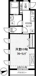 メル・ハウス[203号室]の間取り