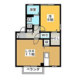 ディアクレストE[2階]の間取り
